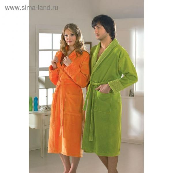 "Махровый халат ""ANGORA"", размер S, оранжевый"