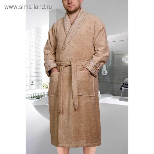 """Махровый халат """"ELIZA"""", размер XL, цвет бежевый"""