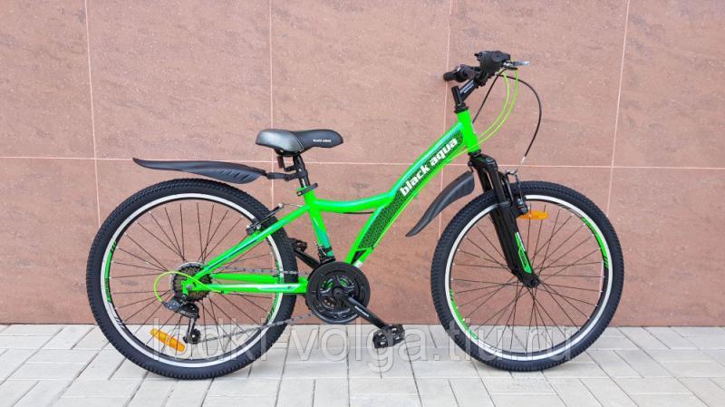 """Велосипед BLACK AQUA Cross 1471 V 24"""" (зеленый)"""
