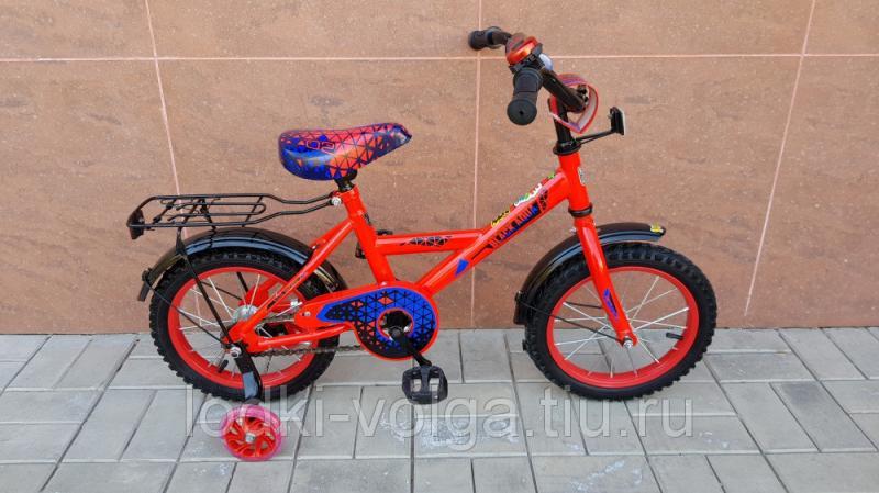 Велосипед BlackAqua 1402 (со светящимися колесиками, красный)