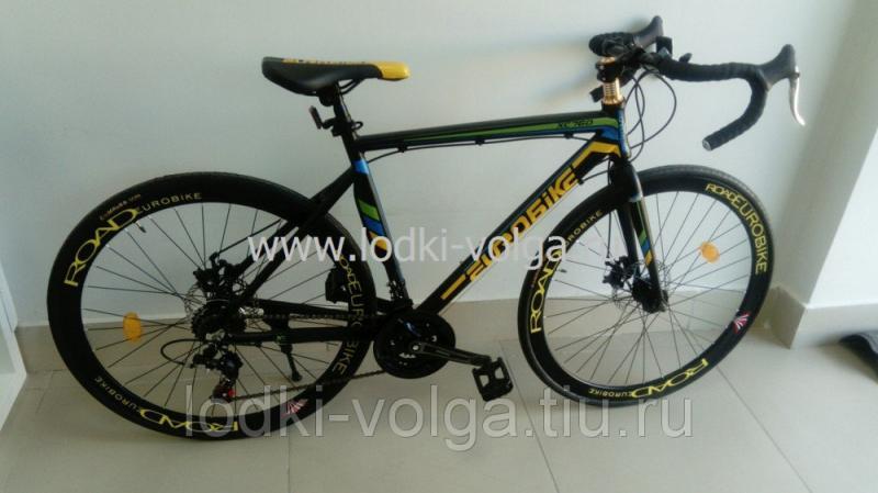 Велосипед EUROBIKE, шоссейный (алюминий, 21 скор.), черно/желтый