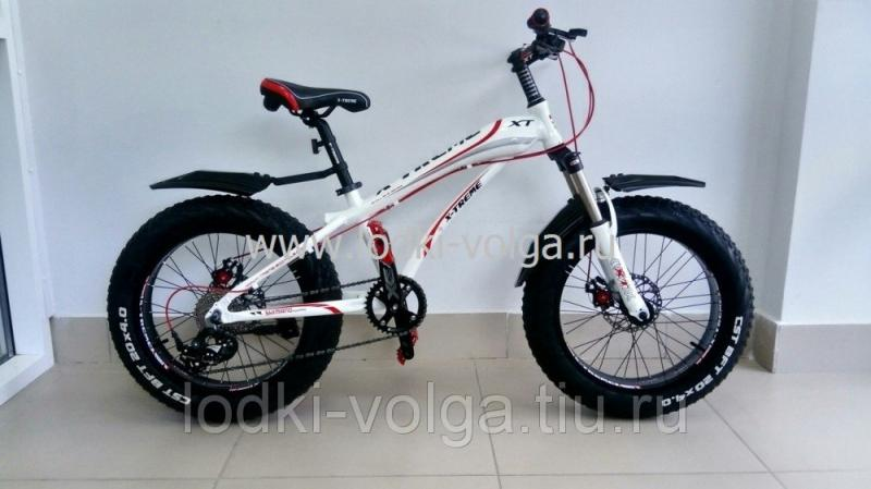 Велосипед FATBIKE FAT20AL (бело/красный) 21 скорость