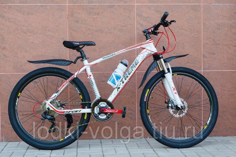 Велосипед X-TREME XT26002AL-27SP (алюминий, 27 скор.) (бело/красный)