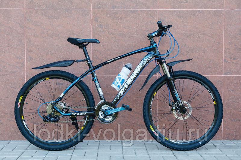 Велосипед X-TREME XT26002AL-27SP (алюминий, 27 скор.) (черно/синий)