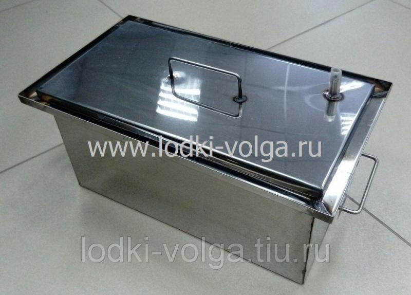 Коптильня, Эконом т.1,0 мм 400*200*200, гидрозамок, сталь 430