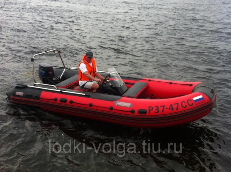 Лодка Посейдон-520 красный\красно-черный