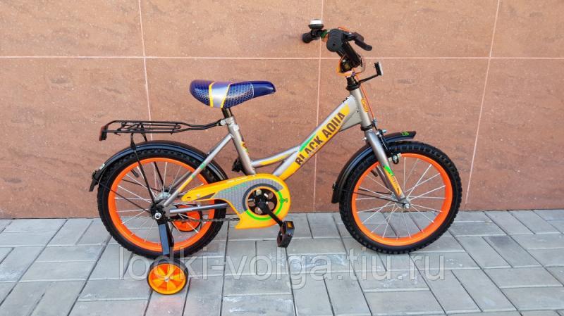 Велосипед BlackAqua 1601 (серо-оранжевый неон)