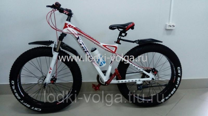 Велосипед FATBIKE FAT26AL (бело/красный) 21 скорость