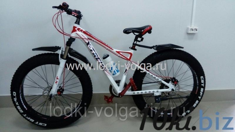 Велосипед FATBIKE FAT26AL (бело/красный) 21 скорость Велосипеды в России