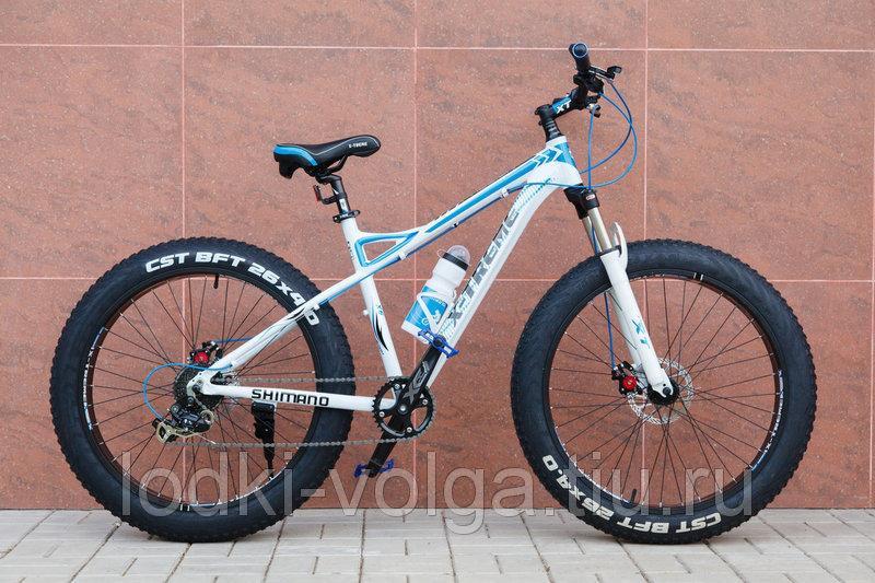 """Велосипед FATBIKE FAT26AL9SP (алюминий, 9 скор., 17"""" рама) (бело/синий)"""