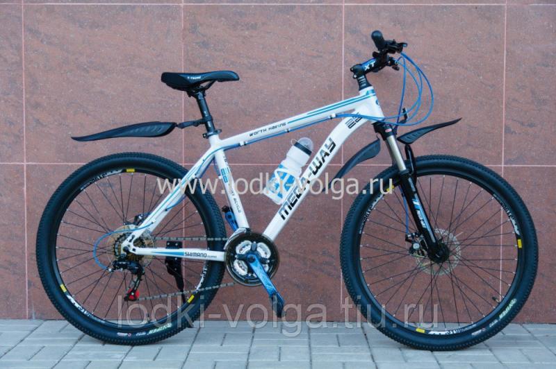 Велосипед MEGA-WAY MEGA26002 (алюминий, 21 скор.), бело/синий, шт