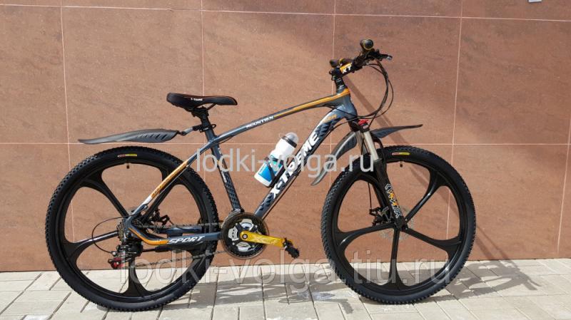 Велосипед X-TREME XT26001WH (серо/оранжевый) 21 скорость