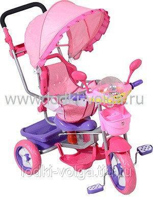 Велосипед МУЛЬТЯШКА Мишка с амортизатором (розовый)