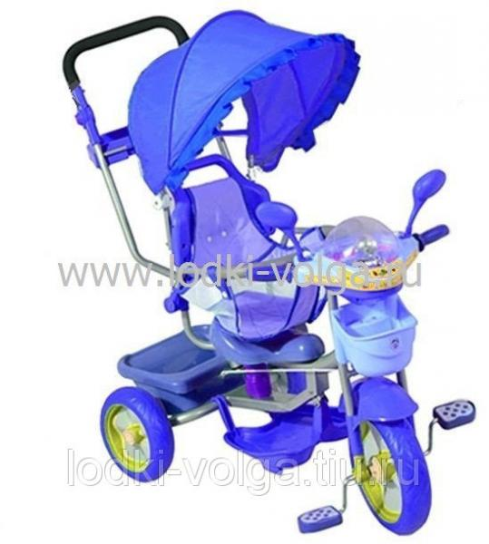 Велосипед МУЛЬТЯШКА Мишка с амортизатором (синий)