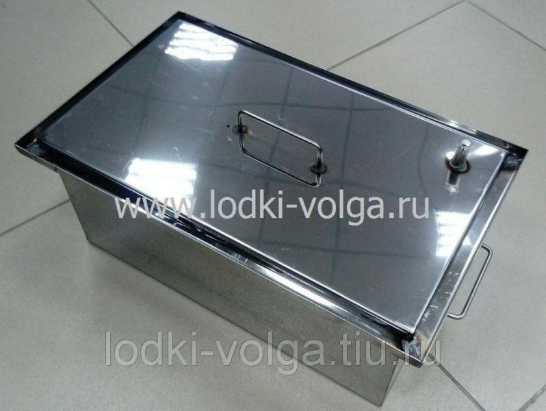 Коптильня, Эконом т.1,0 мм 450*250*200, гидрозамок, сталь 430