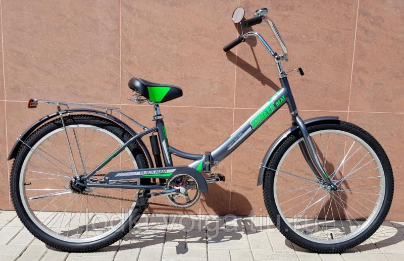 """Велосипед BA Street Beat 141 24"""" серо-зеленый"""