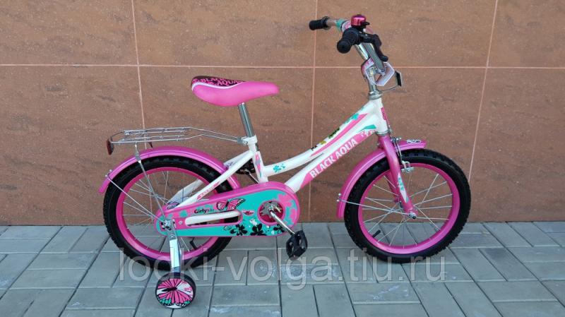 Велосипед BlackAqua 1606-Т (бело-розовый)