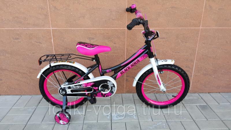 Велосипед BlackAqua 1606-Т (черно-розовый)