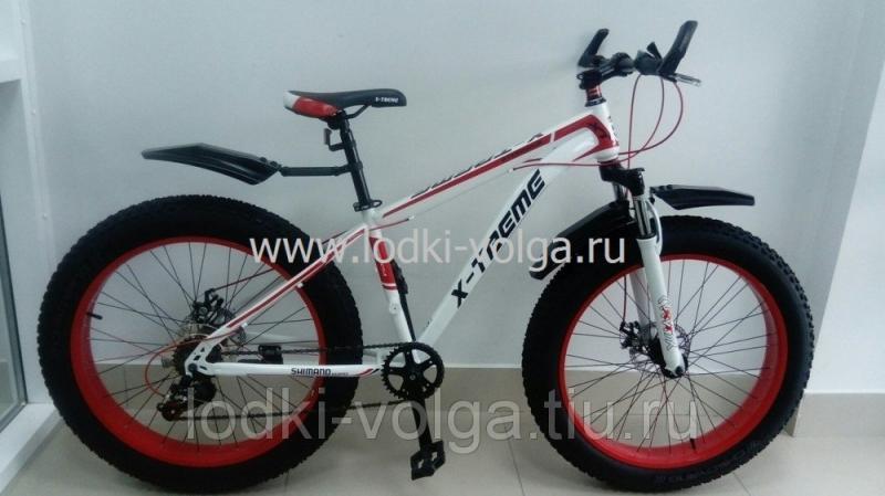 Велосипед FATBIKE FAT20ST (бело/красный) 21 скорость