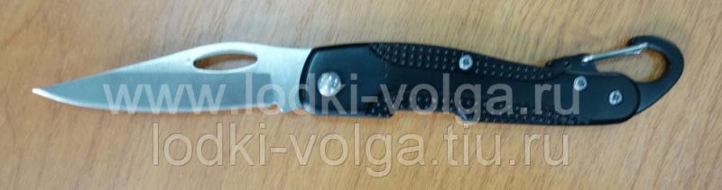 """Нож """"Чингисхан"""" (туристический складной с карабином 17 (7) х 2,5 см ручка металл)"""