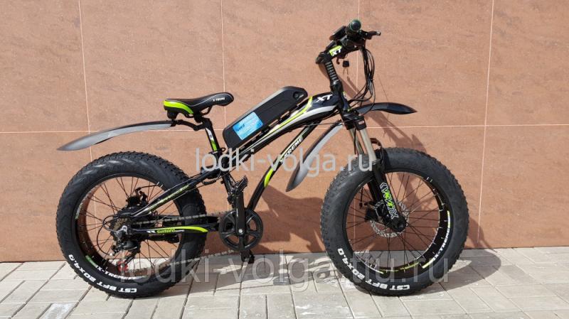 Электровелосипед FATBIKE 20AL (черно/зеленый) 7 скоростей, 500W 48V 11.6AH