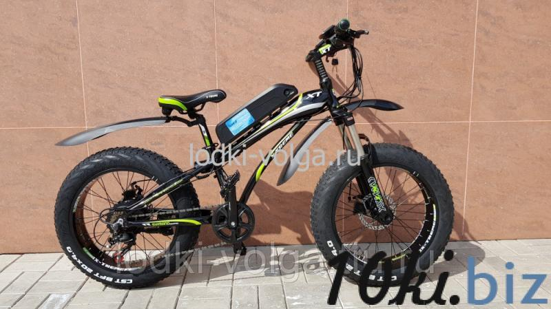 Электровелосипед FATBIKE 20AL (черно/зеленый) 7 скоростей, 500W 48V 11.6AH Электровелосипеды в России
