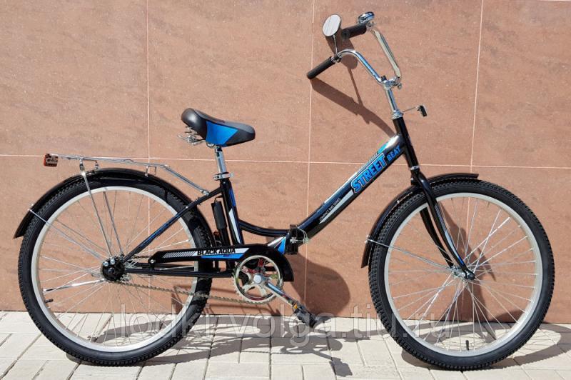 """Велосипед BA Street Beat 141 24"""" (черно-синий)"""
