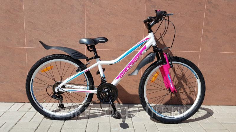 Велосипед BLACK AQUA Lady 2471 V 24 (бело-розовый)