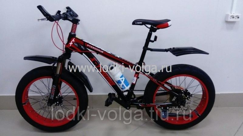 Велосипед FATBIKE FAT20ST7SP (черно/красный)