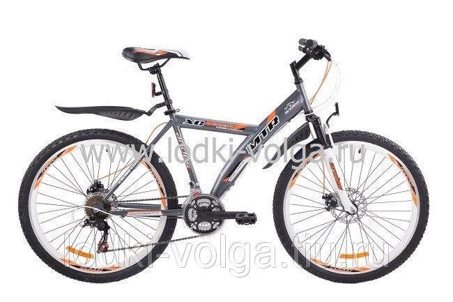 """Велосипед MTR Andes D / 424 D 24"""" (серебро-оранжевый)"""
