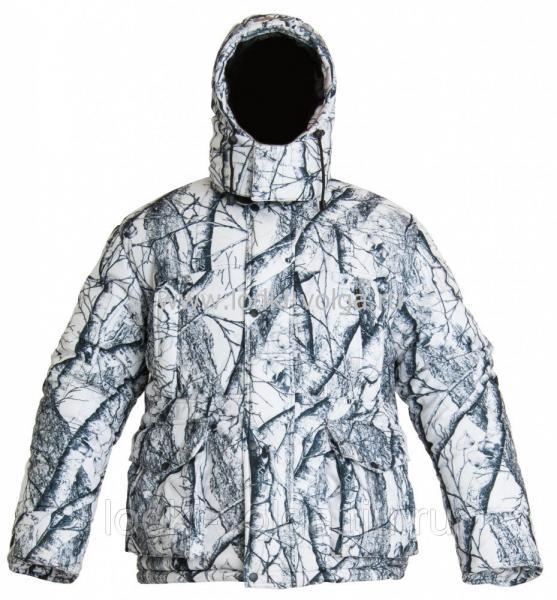 Костюм Буран-М, цвет Белый Лес (Ветки), ткань Мембранная, размер 44-46