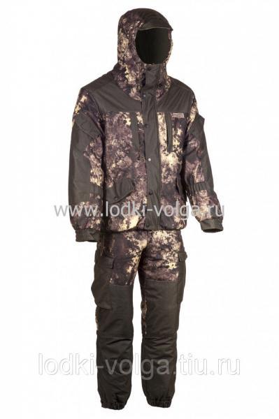 Костюм Горка Ангара, ткань мембрана, цв.Эфа/Хаки, со снегозащитными гетрами, размер 52-54