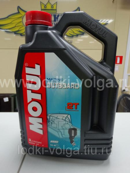 Масло моторное 2-х тактное MOTUL Outboard 2Т для подвесных моторов, минеральное. TC-W3 5 л. (106612)