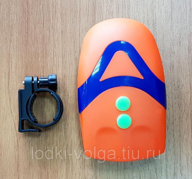 Фара-гудок велосипедная SILAPRO 3 режима, 3LED, пит.батар. 3хААА (195-019)