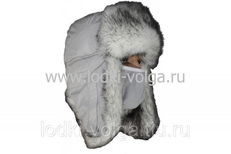 """Шапка ушанка """"Евро"""" Полярный волк, размер 58-60"""
