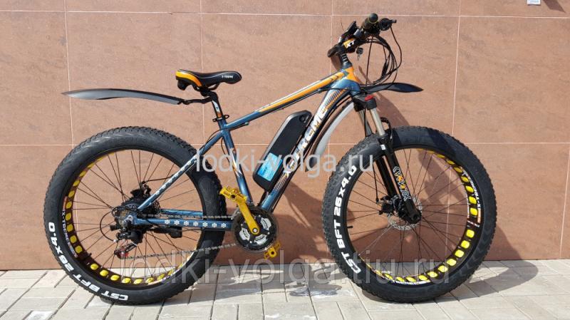 Электровелосипед FATBIKE 26AL (серо/оранжевый) 21 скорость, 500W 48V 11.6AH