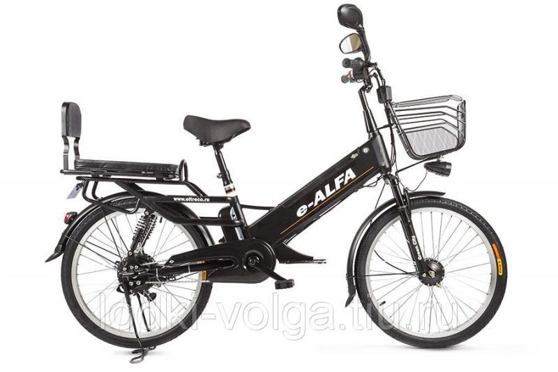 Велогибрид Eltreco e-ALFA GL matt black-0333