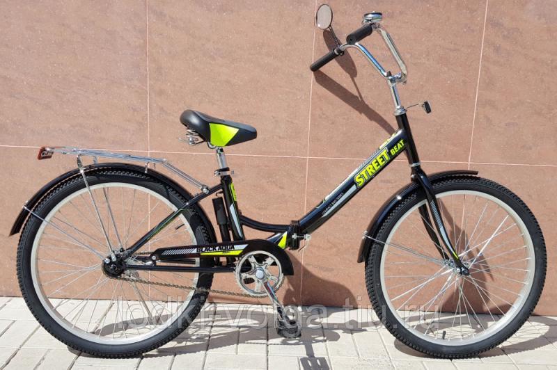 """Велосипед BA Street Beat 141 24"""" (черно-лимонный)"""