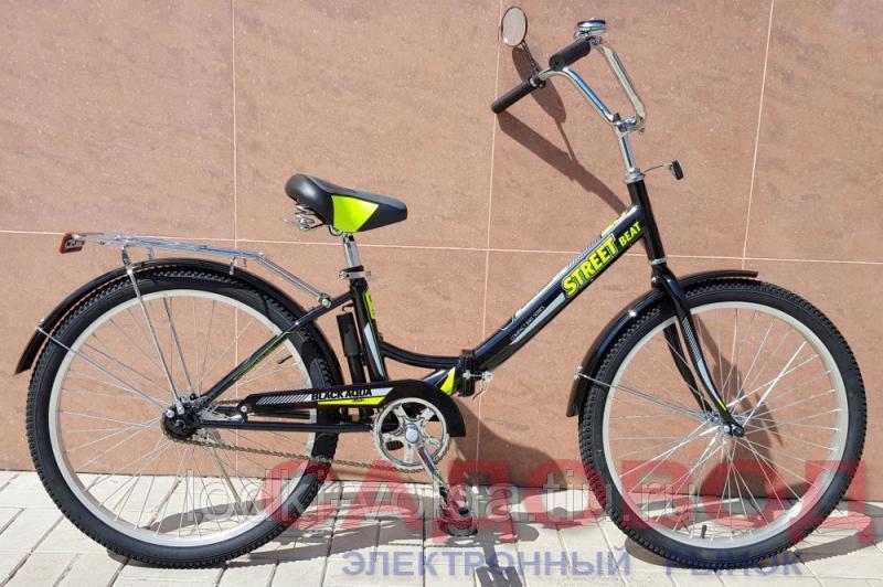 """Велосипед BA Street Beat 141 24"""" (черно-лимонный) Велосипеды на рынке Садовод"""
