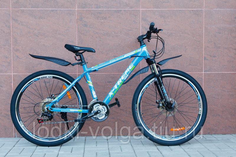 Велосипед X-TREME XT26001AL-27SP (алюминий, 27 скор.) (синий)