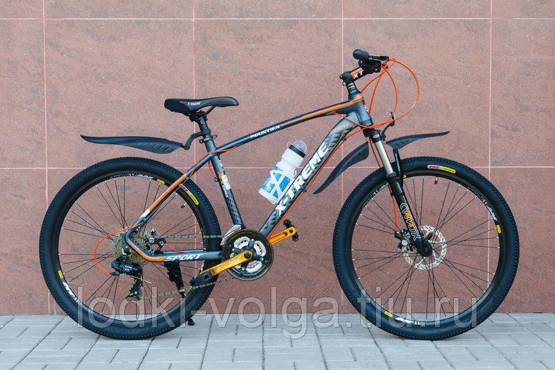 Велосипед X-TREME XT26002AL-27SP (алюминий, 27 скор.) (серо/оранжевый)