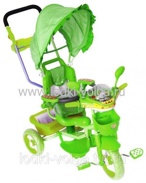 Велосипед МУЛЬТЯШКА Мишка с амортизатором (зеленый)