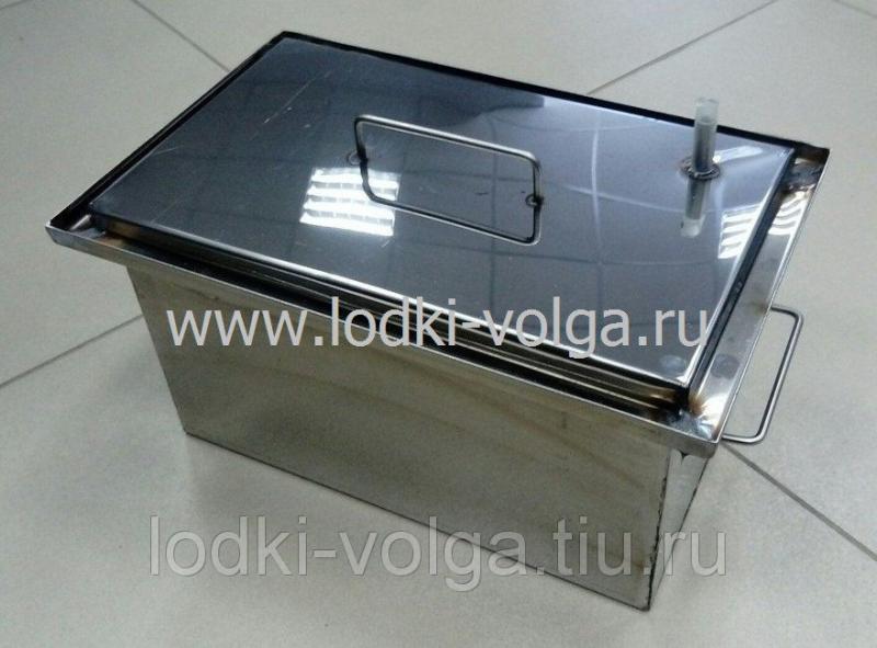 Коптильня, Эконом т.1,0 мм 350*200*200, гидрозамок, сталь 430