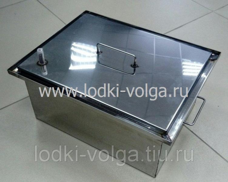 Коптильня, Эконом т.1,0 мм 400*300*200, гидрозамок, сталь 430