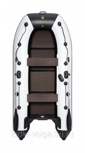 Лодка Ривьера компакт 3200 С Касатка черно/светло-серая