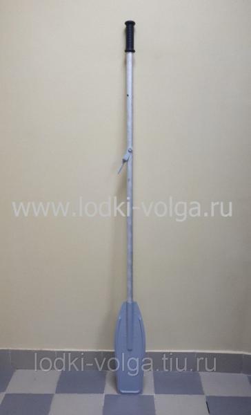 Весло к лодке дюралевое 2100 мм с металлической лопастью (1 шт.)