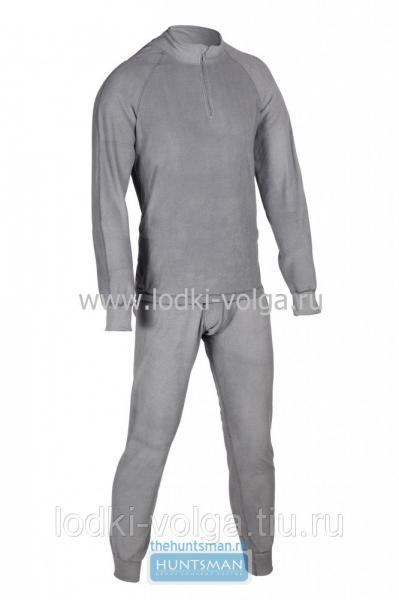 Термобелье Huntsman Zip тк. флис серый р.46-48 (М) -40*