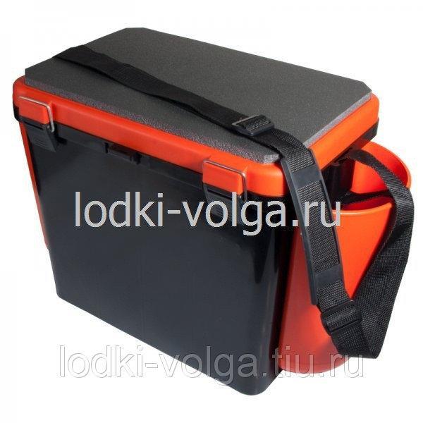 """Ящик зимний """"FishBox"""" 19л, односекционный, оранжевый"""