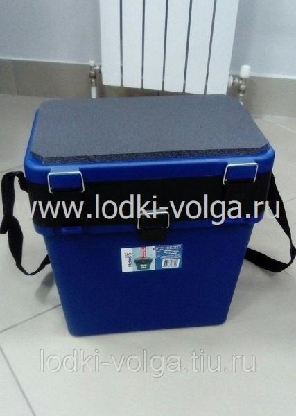 Ящик рыболовный пластиковый (В370*Ш370*Г230) (серый/зеленый/синий)