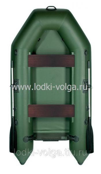 Лодка Аква 2600, зеленая